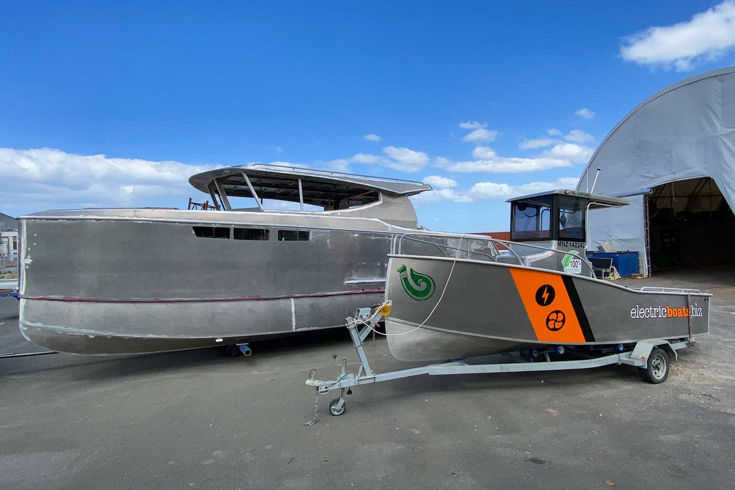 Electric Boats Hybrid Catamaran and Electric